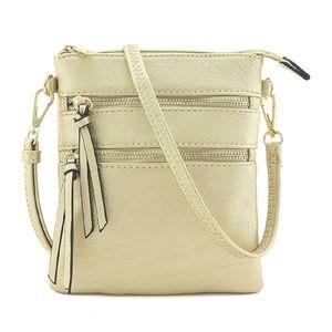 GIADA Champagne Gold Crossbody Bag